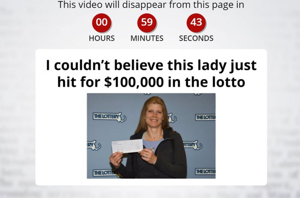A winner from lottery photo
