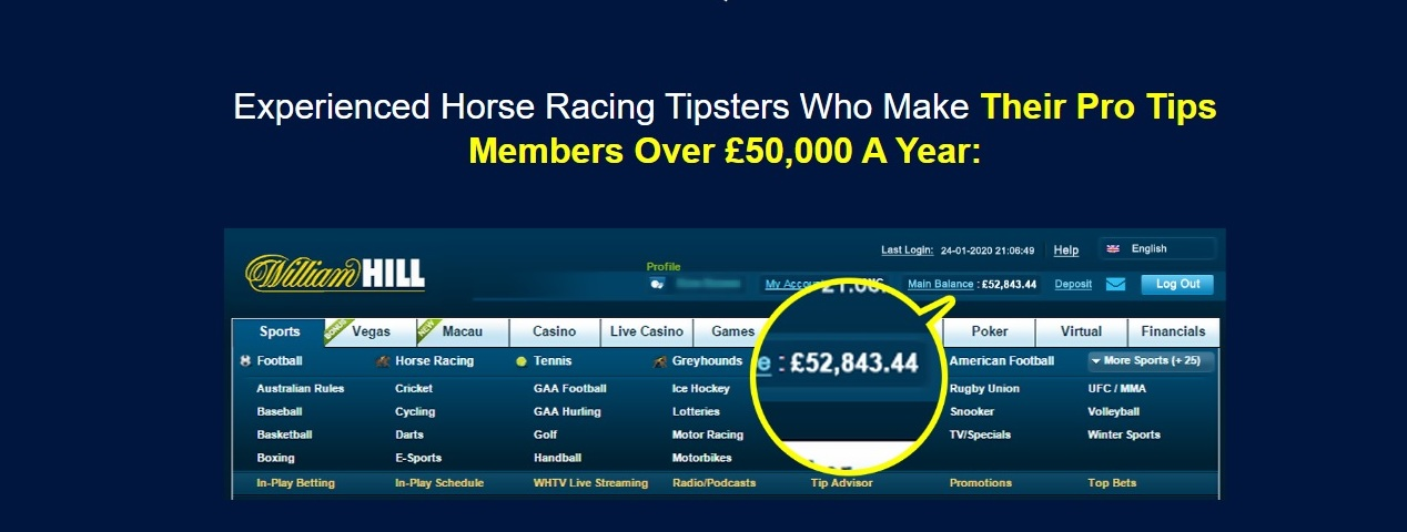 Screenshot of the Strike Rate Racing company photo