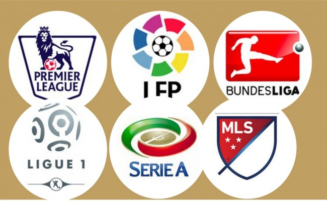 top soccer leagues logos